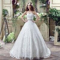 vestido de noiva Clouds Wedding Dresses Sweetheart Beaded Crystals Wedding Gowns robe de mariage Real Dress