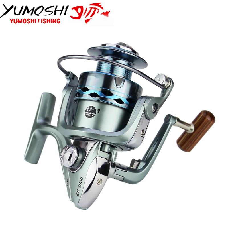 Yumoshi спиннингом Рыбная ловля LK-ZF2000-7000 12 + 1BB без пауз Рыбалка прялка море рыб ...