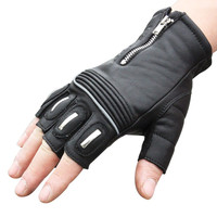 Scoyco Brand Genuine Leather Motorcycle Gloves Motocross Off Road Racing Half Finger Gloves Outdoor Sports Dirt