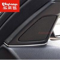 High Quality ABS Chrome Sticker For BMW Interior Speaker Decoration Trim Sequins Covers For BMW F10