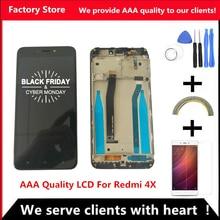 คุณภาพ AAA LCD + กรอบสำหรับ Xiaomi Redmi 4X จอแสดงผล LCD สำหรับ Redmi 4X แท่นพิมพ์ชุด
