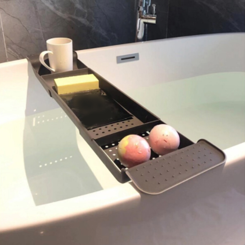 2019 New Telescopic Drain Bathtub Rack, Bathroom, Plastic Bath Basin, Rack, Bathtub, Bath And Storage Rack