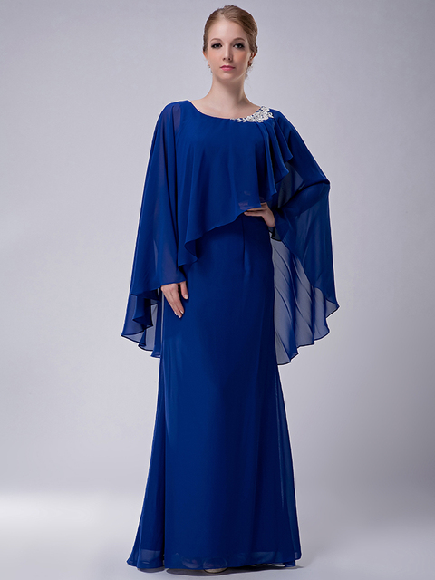 Long Chiffon Mother Bride Dresses