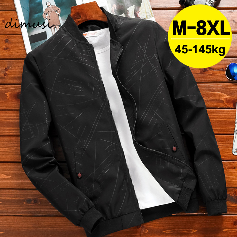 DIMUSI Spring Mens Jackets Male Casual Zipper Streetwear Hip Hop Bomber Coats Men Outwear Thin Slim Clothing Plus Size 8XL,YA779