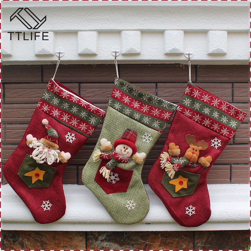 Ttlife 2016 New Year Gift 1 Piece Christmas Stockings