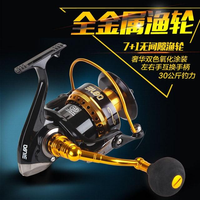 Lurekiller 7 + 1BB 30 KG drague moulinet de pêche en métal moulinet de pêche en rotation moulinet de pêche en eau salée roue de pêche à la traîne