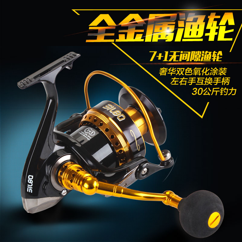Lurekiller 7+1BB 30KG Drag Full Metal Jigging Reel Spinning Fishing Reel Saltwater Jig Reels Boat Trolling Wheel tsurinoya tsp3000 spinning fishing reel 11 1bb 5 2 1 full metal max drag 8kg jig ocean boat lure reels carretes pesca molinete