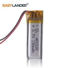 3,7 в, 130 мАч, 401030 плиб; полимерный литий-ионный/литий-ионный аккумулятор для bluetooth наушников гарнитуры