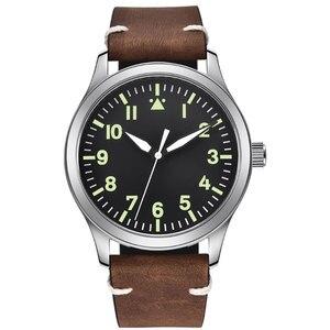 Image 2 - 42mm Corgeut sterylna tarcza do zegarka szafirowe szkło wojskowe mężczyźni automatyczny luksusowy wzór sportowy marki automatyczny mechaniczny męski zegarek