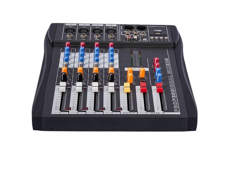 Prix pour Nouveau CT40S-USB LED 4 Canaux Console De Mixage Matériel Professionnel Audio DJ Mélangeur