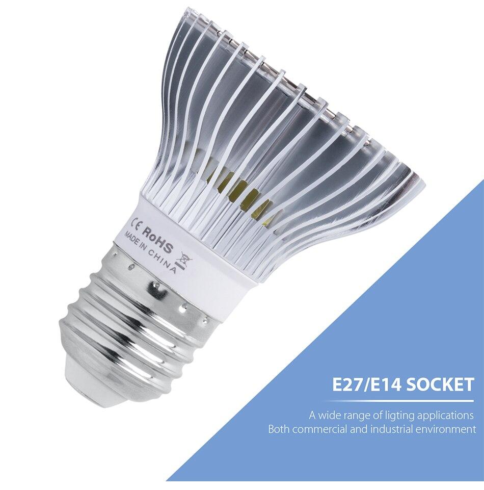 18w 28 30 50 80 crescimento lâmpada