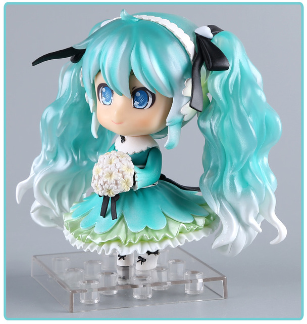 Anime Hatsune Miku Action Figure Snow Miku #047 Nendoroid Cute Ver. Toy 10cm                                                     2
