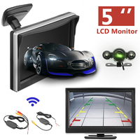 5 inch 720P Wireless Car Parking Reversing Camera LCD Monitor IR Night Vision Truck Rear View Tailer Backup Camera Waterproof