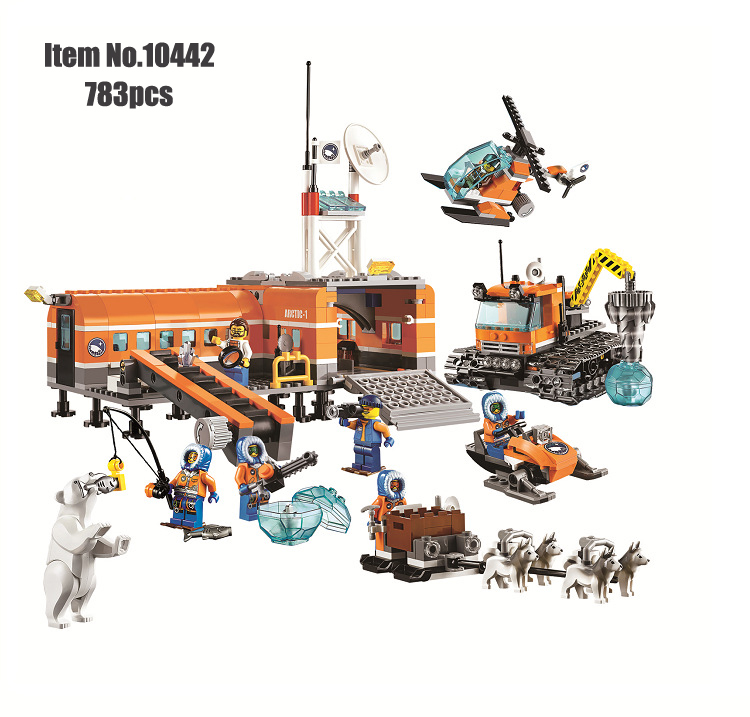 City ice Breaker Ship 760 Pcs Building Blocks Bricks With Figure Free Shipping