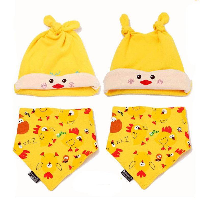 Baby Caps & Bibs Мақта Baby Cute Hat Мультфильм - Балаларға арналған киім - фото 1