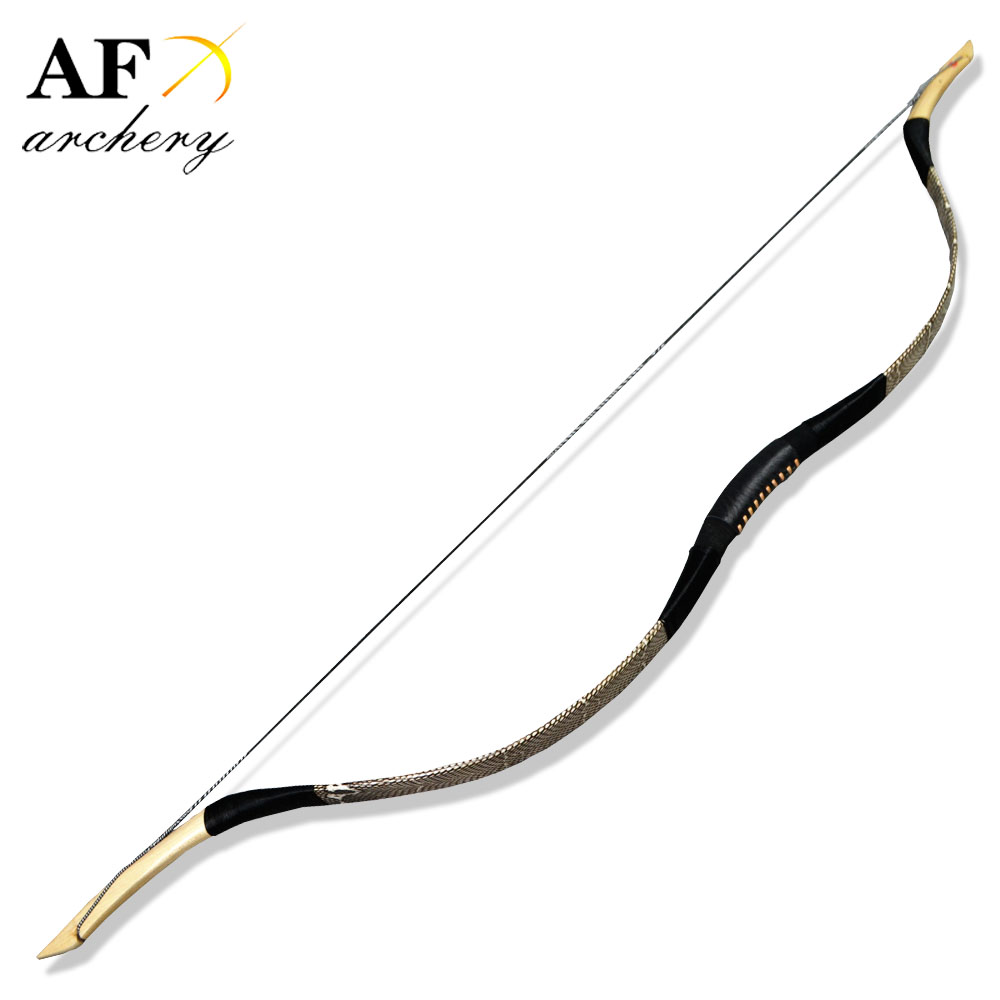 FB05 New traditional Handmade Snakeskin Han bow Long bow Recurve bow  fiberglass bow Archery for Outdoor