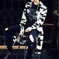 Los hombres de pie cuello de la chaqueta M Foto Color Tamaño M-XXL de la Alta calidad 2016 de los hombres de moda los nuevos anuncios