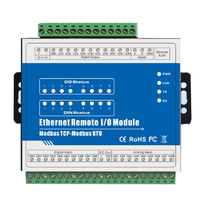 IOT RTU Module Modbus TCP Ethernet Remote IO Module 8DI 8DO Supports High Speed Pulse Counter