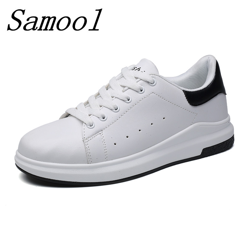 2018 Spring Summer Breathable Fashion White Shoes Woman Casual Shoes Lover Flats Pu Slip on Lace up Footwear Size 35-44 jy5 tesilixiezi new spring summer fashion candy color bling flats platform shoes wegde breathable women casual shoes footwear