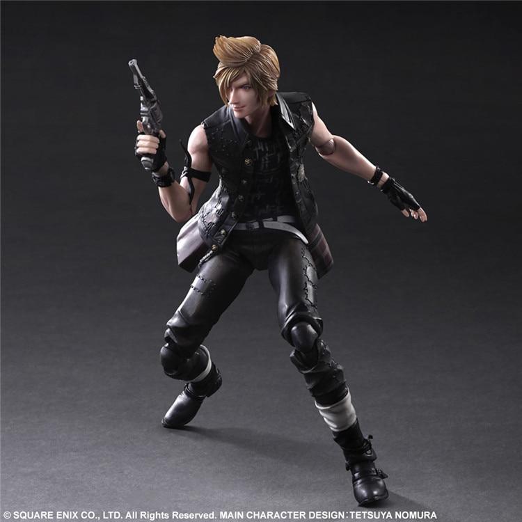 PLAY ARTS 27cm Final Fantasy XV Prompto Argentum Action Figure Model Toys richmond denim футболка