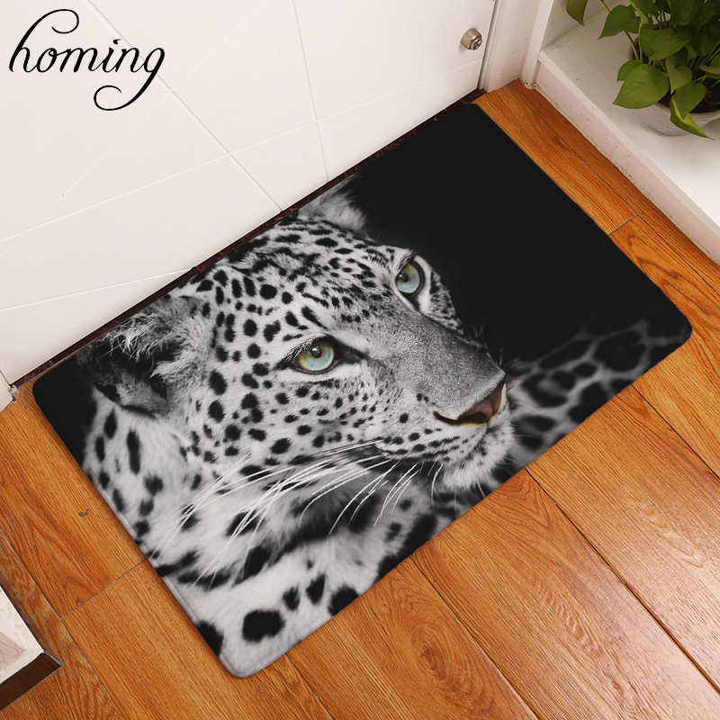 Homing Water Absorption in Front of Door Mats Animals Pattern African Cheetah Carpets Light Thin Flannel Living Room Carpets