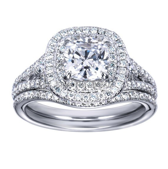 aliexpresscom buy center 1 carat fine brilliant With wedding band for double halo ring