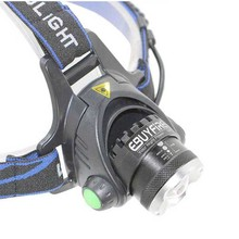 18650 Headlight Led Headlamp Zoom Rechargeable light Waterproof 2000LM Head Lamp Light (without battery)