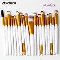 Aochern 20 pcs Makeup Brushes Set Eyeshadow Blending Brushes Foundation Pó Sobrancelha Eyeliner Brushes Cosméticos Ferramenta