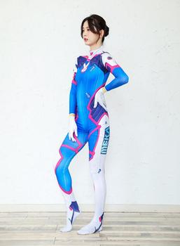 2019 Halloween costumes 3D Printing Overwatches Lady D VA Costume for women plus size Cosplay dva Zentai Spandex Dva Bodysuit 2