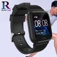 RollsTimi Men's Smart Sports Watches IP67 Waterproof Fitness Tracker Smart Wristwatch Women Heart Rate Wristband for IOS Android
