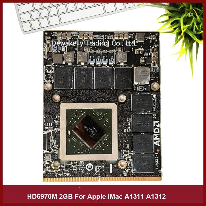 """וידאו כרטיס גרפי HD 6970M HD6970 hd6970m 2GB 2G VGA וידאו כרטיס גרפי עבור Apple iMac 27"""" אמצע 2011 Radeon A1311 A1312661-5969 100% מבחן (1)"""