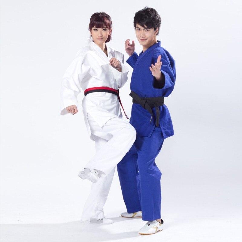 Qualidade superior novos homens jiu jitsu judo bjj gi kung fu roupas masculinas azul kendo aikido algodão roupas esportivas plus size artes marciales conjunto 3
