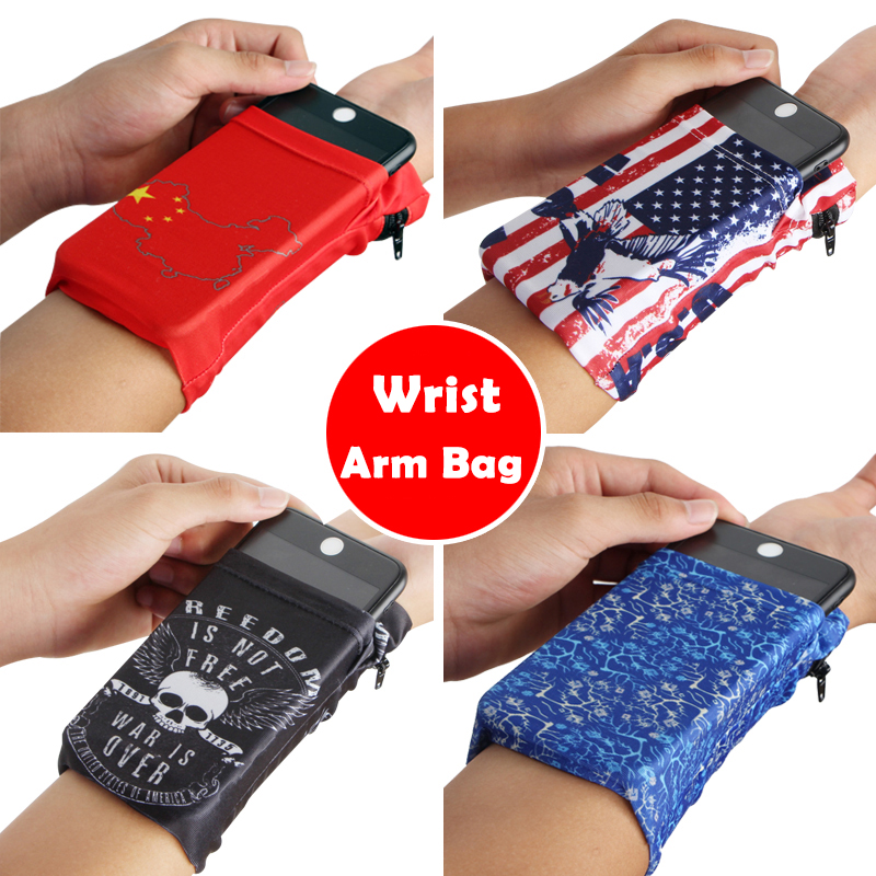 Queshark Running Armband Bag Phone Wrist Wallet Pouch Basketball Badminton Sweatband Jogging Cycling Gym Fitness Wristband Bag