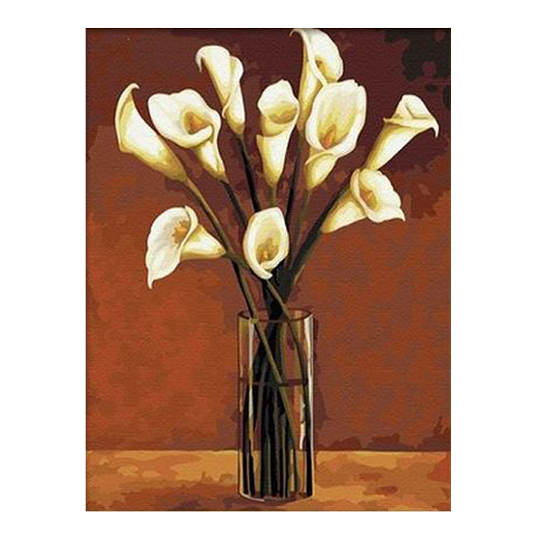 NHBR-16x20 inch Vase Calla Paint Paint by Digital Suite DIY acrylic oil on canvas