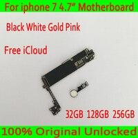 Для iphone 7 материнская плата разблокированная материнская плата с сенсорным ID 100% оригинал для iphone 7 логическая плата 32 ГБ 128 ГБ 256 ГБ Бесплатна