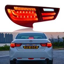 Car styling Taillights for Toyota Reiz Mark X LEDTail Lights 2016 2017 Mark X LED Tail Light Rear Lamp DRL+Brake+Park+Signal стоимость
