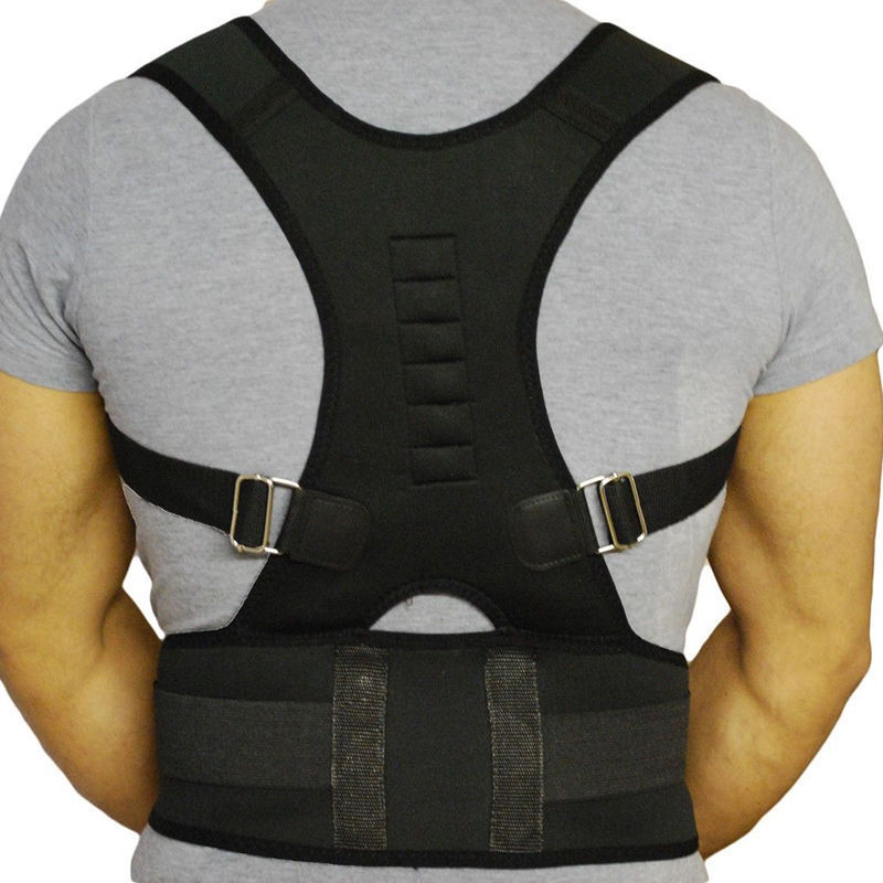 HIRIGIN Newest Magnetic Therapy Posture Corrector Body Back Pain Belt Brace Shoulder Support