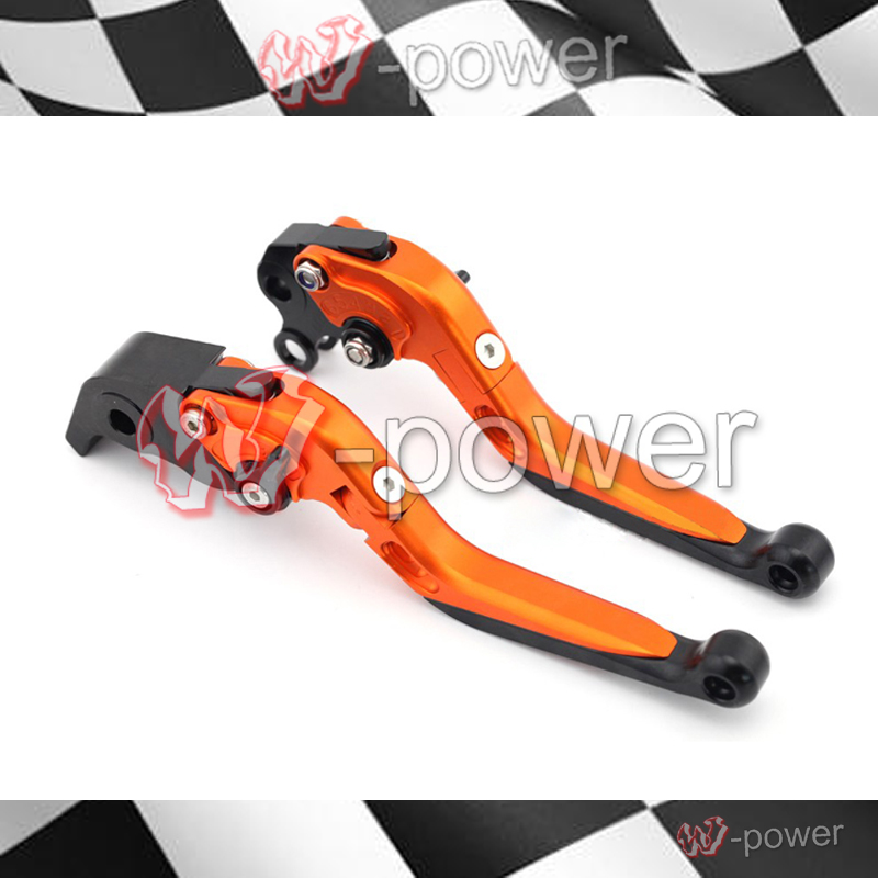 fite For KTM 990 SMT / Supermoto R 2008-2012 Motorcycle Accessories Adjustable folds Expandable Brake lever orange go-kart
