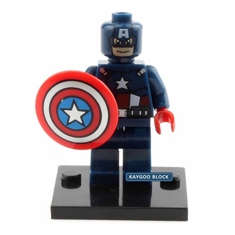 Один продавец герой Веном Человек-паук Бэтмен Тор Дэдпул Супермен Халк Локи флэш фигурка строительный блок игрушка legoingly