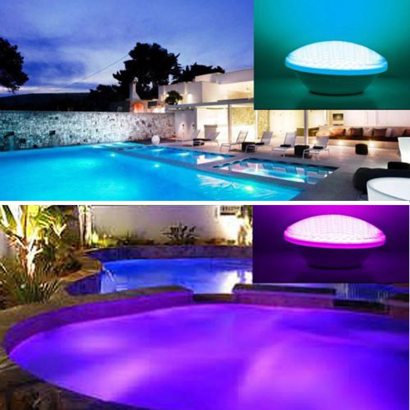 Hot sale! 6pcs/lot Led pond lights underwater 40W RGB PAR56 12V Swimming Pool Light led pool lights Underwater lights