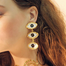 Fashion Statement Earrings 2019 Big Eye Drop for Women Hanging Dangle Jewelry