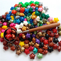 100pcs Wax 1pcs Vintage Steel Spoon Sealing Wax Tablet Pill Beads Granule Grain Strip Sticks Wax