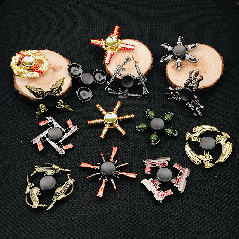 Zinc Alloy Fidget Spinner Creative PUBG Game Weapon Arena Of Valor Equipment Series Hand Spinner Gyro Finger Stress Relief Toys