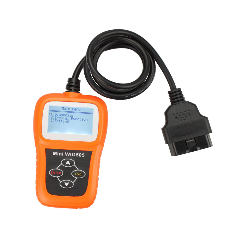 New Mini VAG505 OBD2 Car Diagnostic Tool VAG 505 OBDII Super Professional Auto Diagnostic-tool OBD 2 II Code reader Scanner with bluetooth japen nec relay latest new vci vd tcs cdp pro bt obd2 obdii obd with best pcb chip green single board
