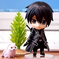Free shipping 1pc Hot Anime Sword Art Online PVC Action Figures cute Kirito Q Version figure doll SAO toys