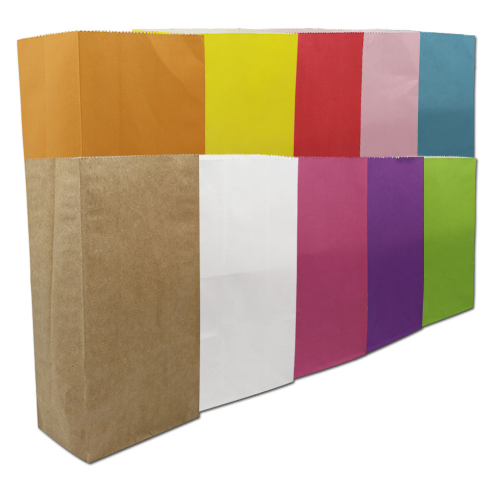 500Pcs 18*9*6cm Kraft Paper Gift Bag Open Top Handmade Bread Food Craft Wedding Party Favor Shopping Bags Wrapping Supply