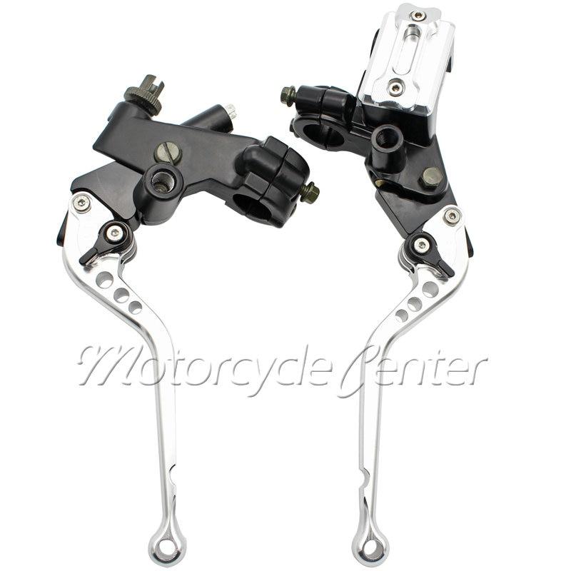 Motorcycle Standard Handlebar 7/8 22mm Pump Master Cylinder Kit Reservoir Long Brake Clutch Levers For Aprilia RSV4 Factory
