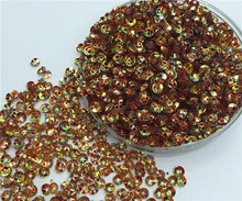 Free shipping 30g(2000pcs)wholesale 4mm Deep Cup Golden platting Brown color loose sequins Paillettes sewing Wedding craft DIY