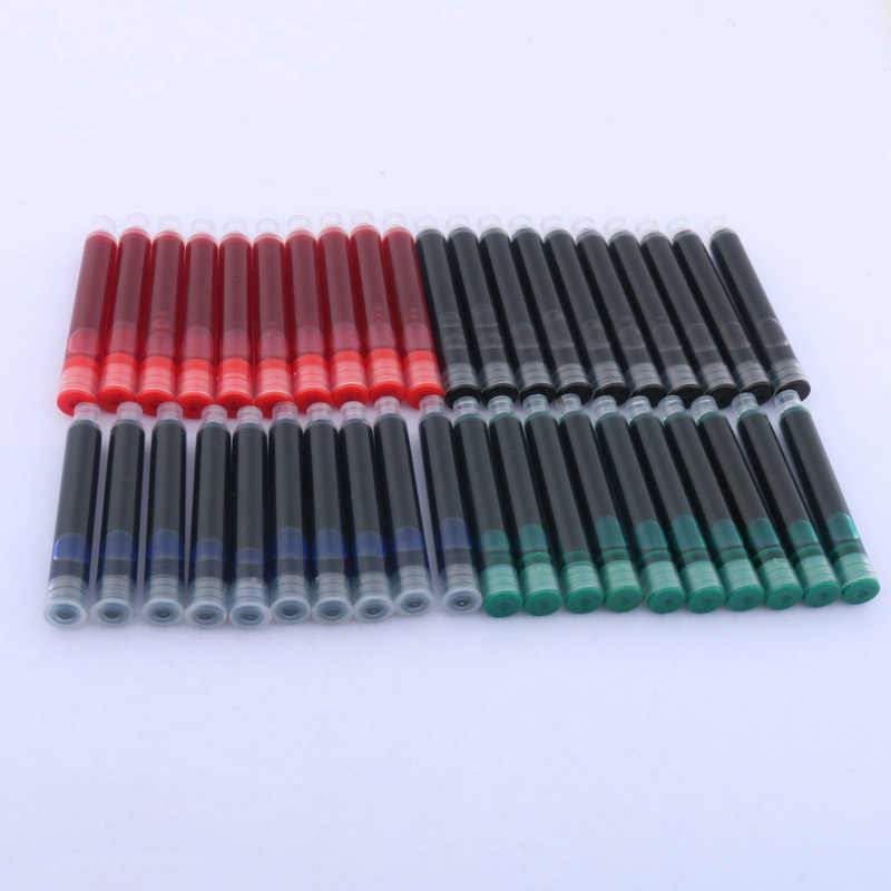 10pc color black blue green red ink fit for OFFICE new 3.4MM metal GIFT fountain pen INK refills