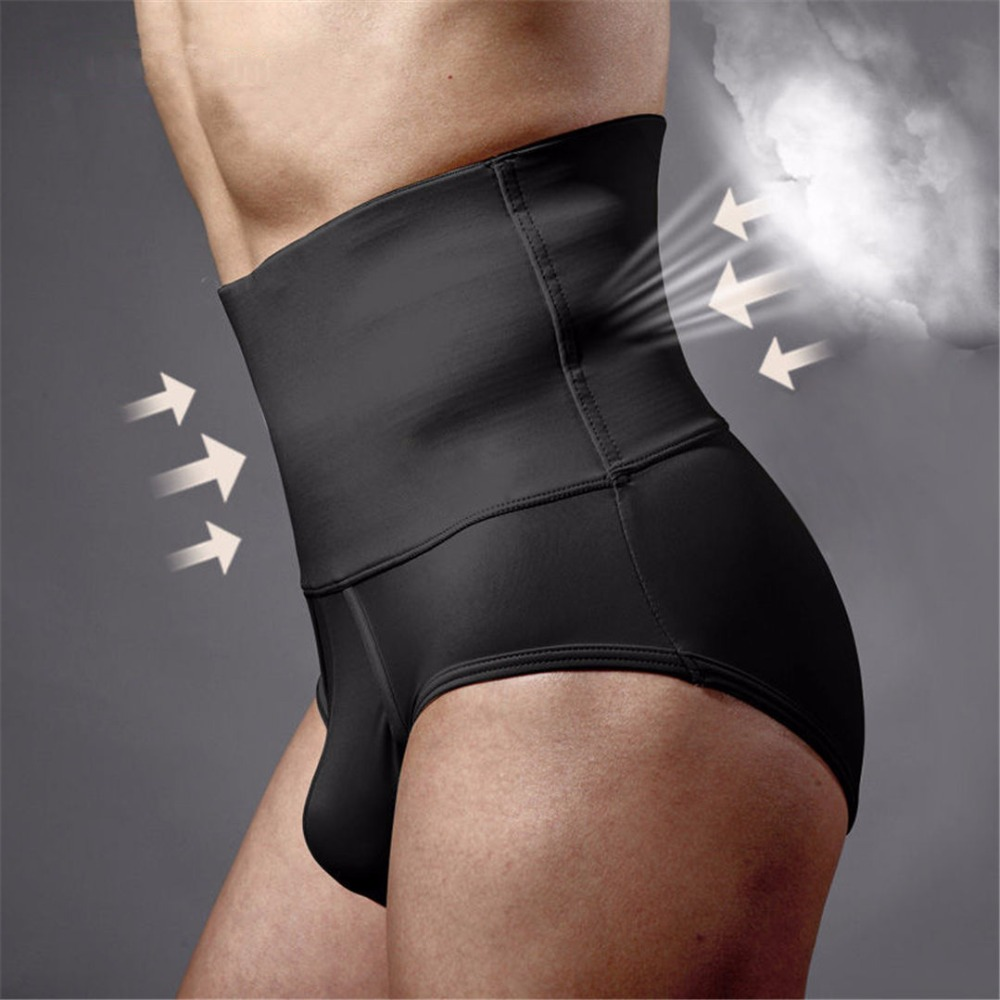 Plus size Men's tummy tucker tummy control underwear for men shapewear waist abdomen shaping panty men's brief body shaper M07
